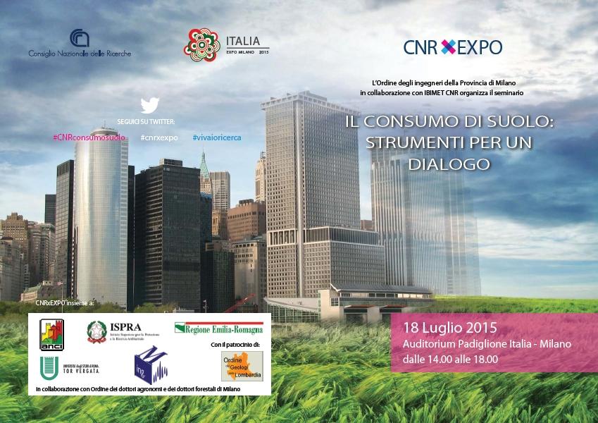 Il consumo di suolo: strumenti per un dialogo, eBook | CNRxEXPO