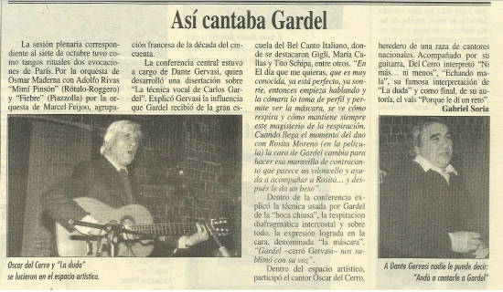 Así cantaba Gardel | 1996