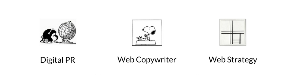 Digital PR, Web Copywriter, New Media Consultant, Web Strategy